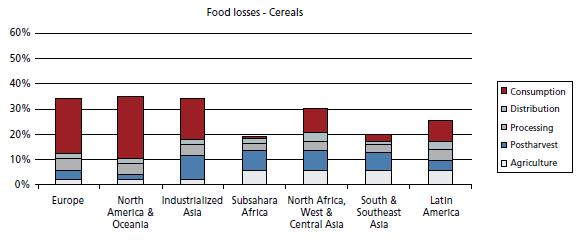Grafik Food losses
